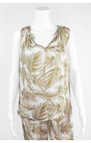 Lauren Vidal Palm Leaf Blouse