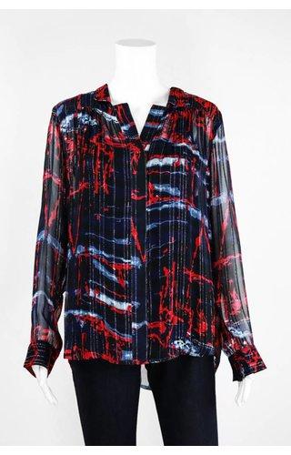 Lauren Vidal Two Tone Silver Shirt