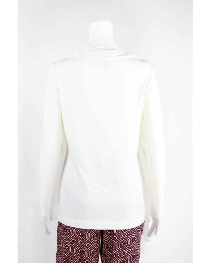 European Culture Cotton Sheer Panel T-Shirt