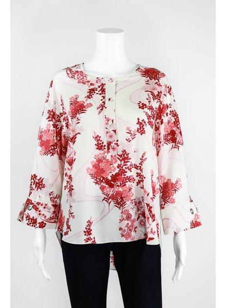 Lauren Vidal Two Tone Silk Blouse