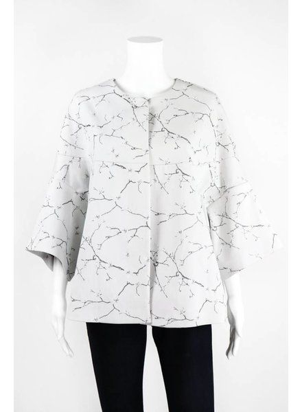 Lauren Vidal Cherry Blossom Printed Jacket