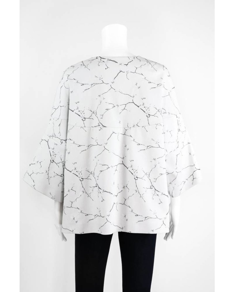 Lauren Vidal Cherry Blossom Printed Jacket