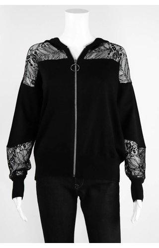 Lauren Vidal Lace Hoodie Jacket