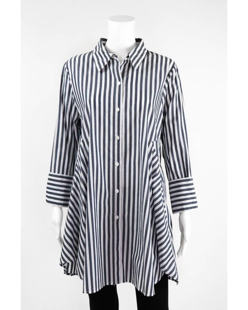 Inae Collection Bold Stripe Shirt Dress With Pockets