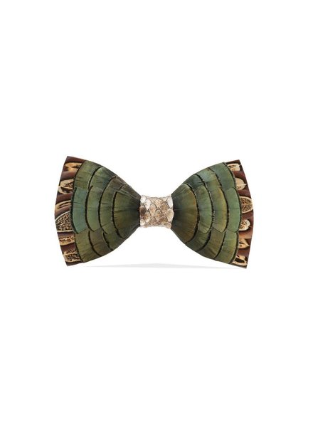Brackish Dawho Feather Bow Tie