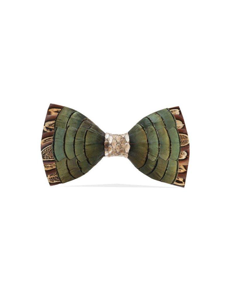 Brackish Dawho Feather Bow Tie
