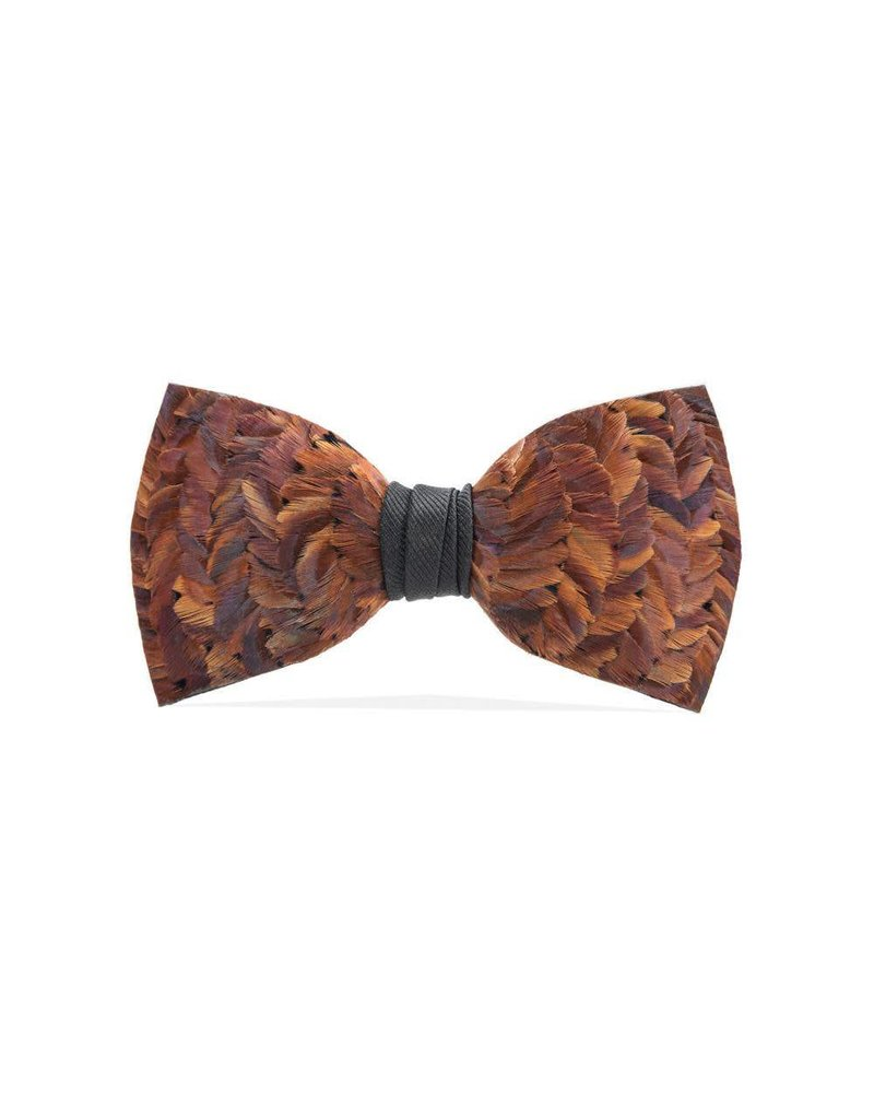 Brackish Coosaw Feather Bow Tie