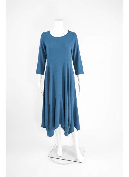 Comfy USA Jason 3/4 Sleeve Round Neck Long Dress