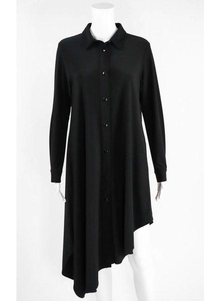 Comfy USA Sun Kim Button Front Asymmetrical Dress