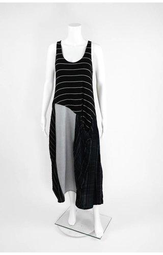 Alembika Sleeveless Mixed Stripe Dress
