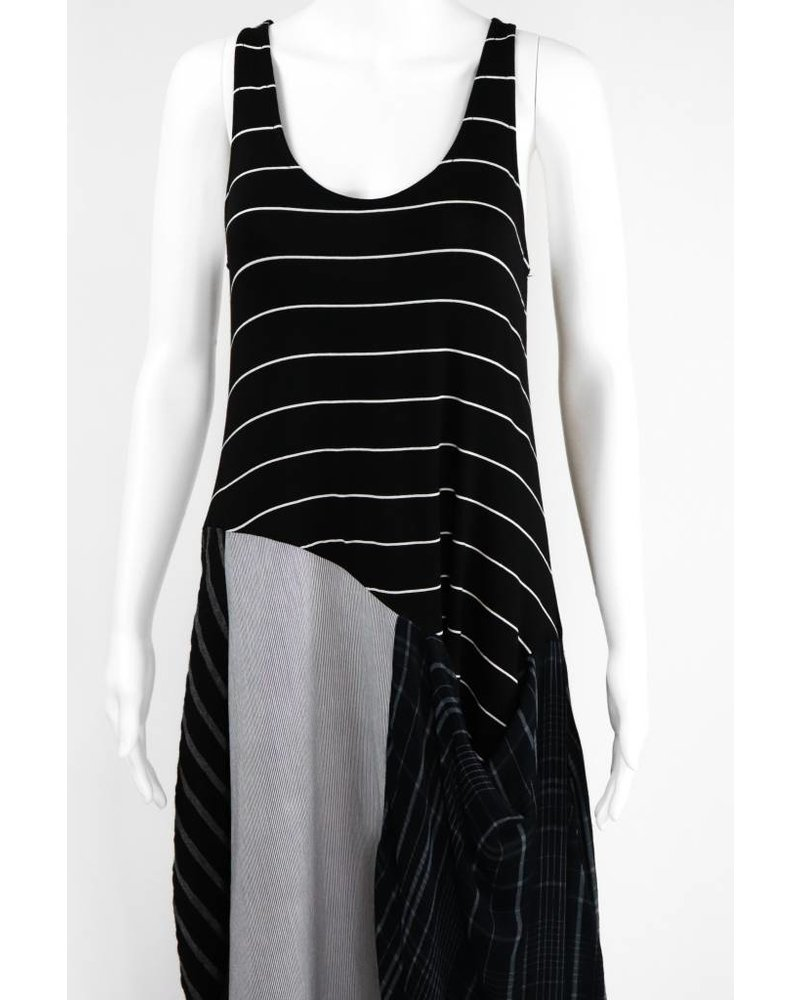Alembika Sleeveless Mixed Stripe Dress