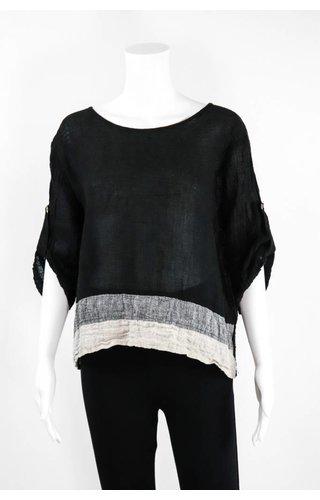 Luukaa Two Tone Bottom Hem Shirt