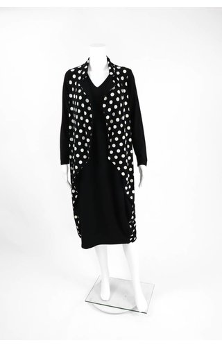 Comfy USA Sun Kim Polka Dot Faux Jacket Dress