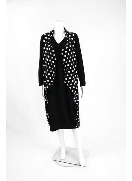 Comfy USA Sun Kim Polka Dot Faux Jacket Dress
