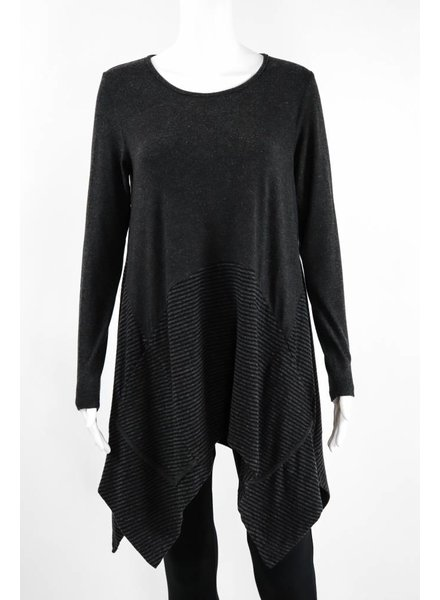 Luukaa Knitted Mixed Pinstripe Tunic With Pockets