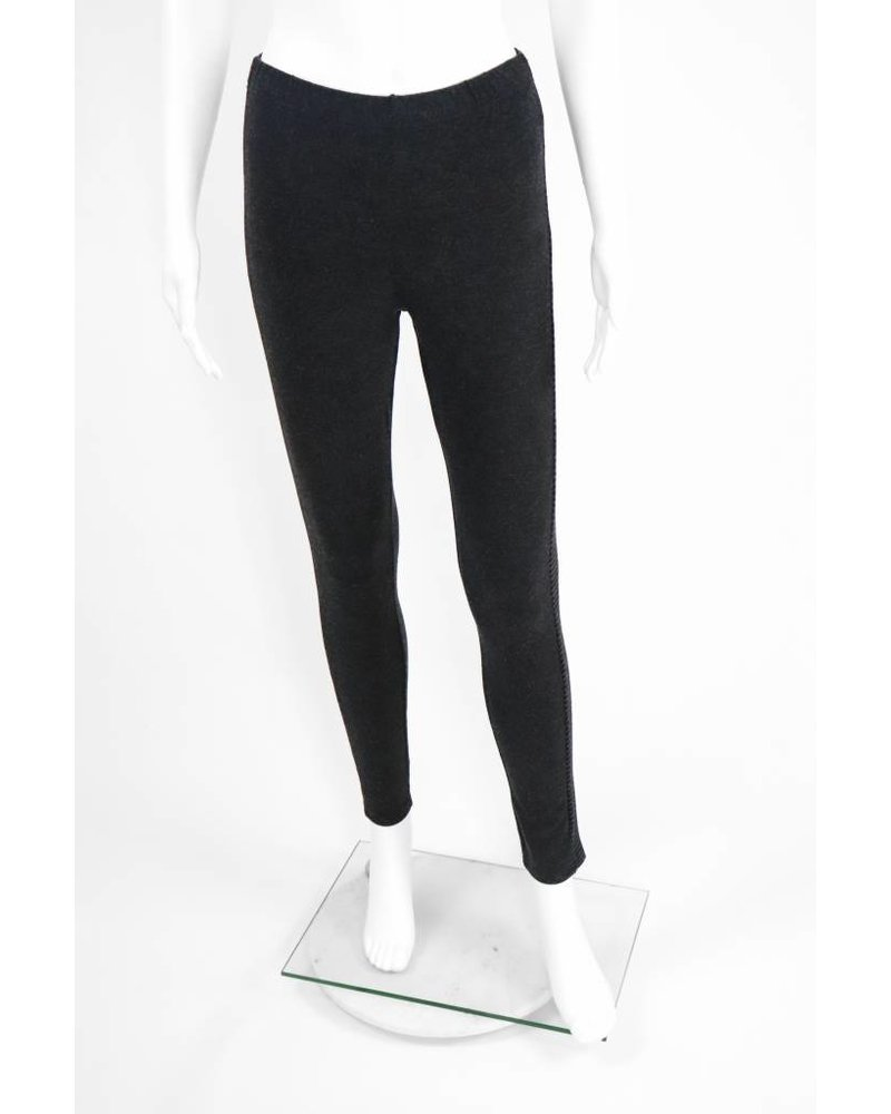 Luukaa Knitted Trouser With Pinstripe Side
