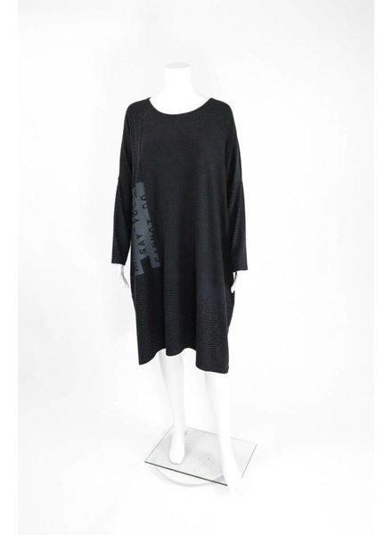 Luukaa Knitted Mixed Print Dress