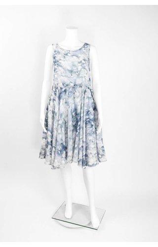 Bitte Kai Rand Print Drawstring Waist Dress