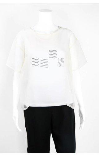 Bitte Kai Rand Sheer Black Graphic Shirt