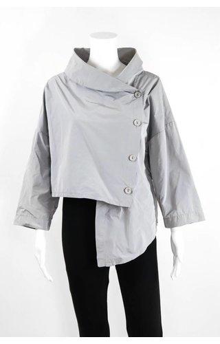 Luukaa Short Wrap Button Down Jacket