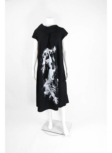 Luukaa Cowl Neck Cap Sleeve Dress