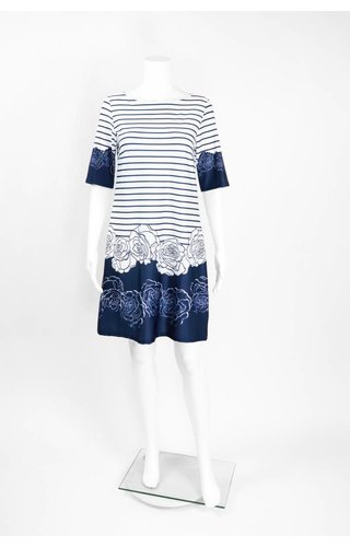 Isle Apparel High Society Stripe Floral Dress