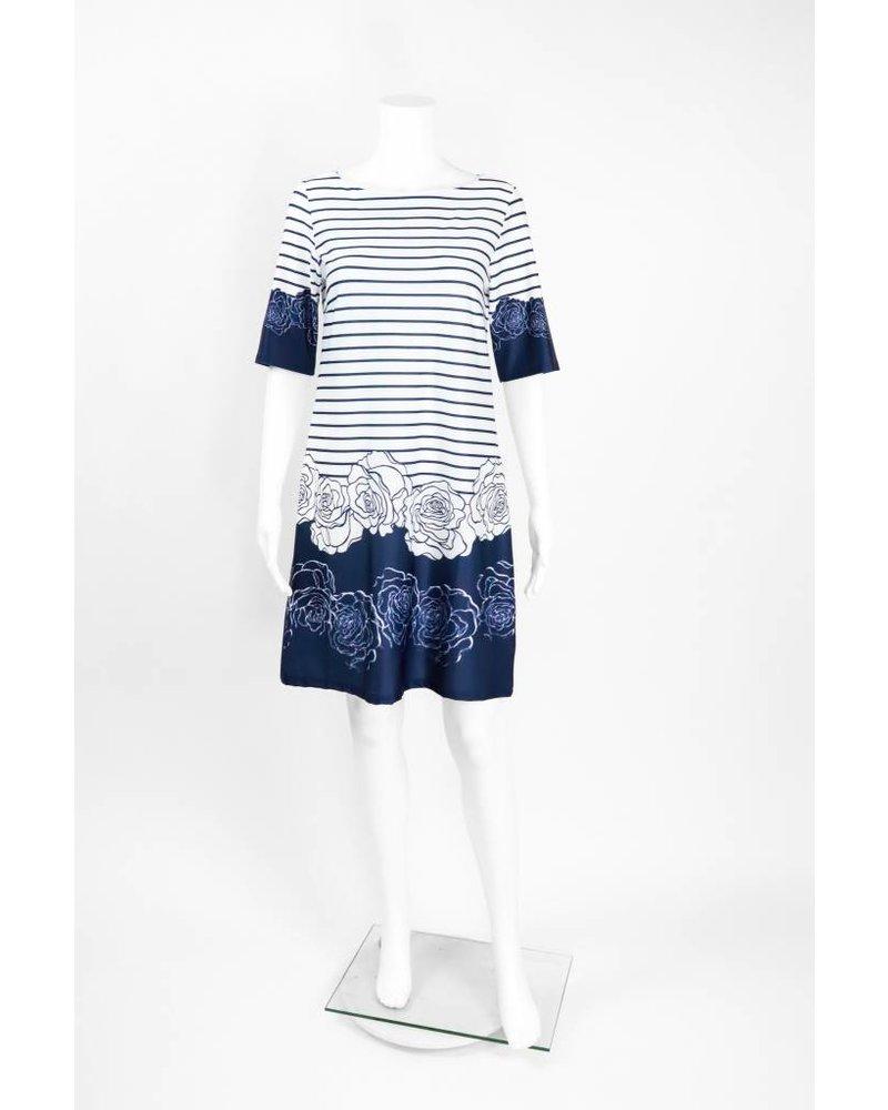 Isle Apparel High Society Stripe Floral Dress