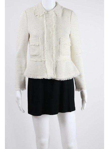 Rebecca Taylor Sparkle Tweed Ruffle Jacket