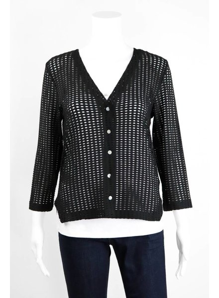 Alembika Perforated Fitted Cardigan