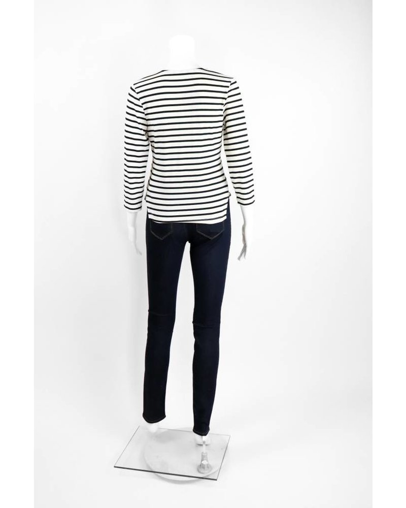Alembika Striped Fitted Cardigan