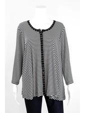 Alembika Horizontal Stripes Button Jacket