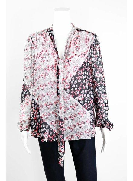 Rebecca Minkoff Lumley Floral Print Top