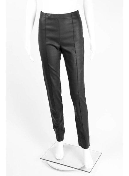 Alembika Faux Leather French Seam Pant