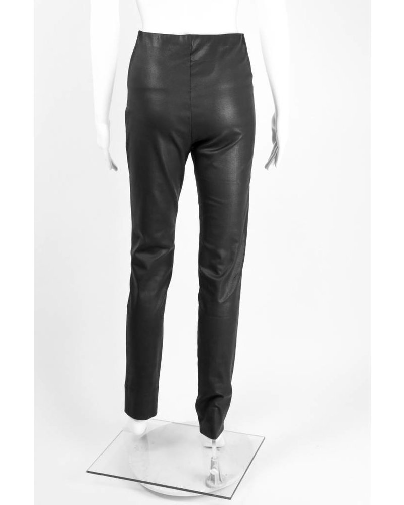 Alembika Faux Leather French Seam Pant