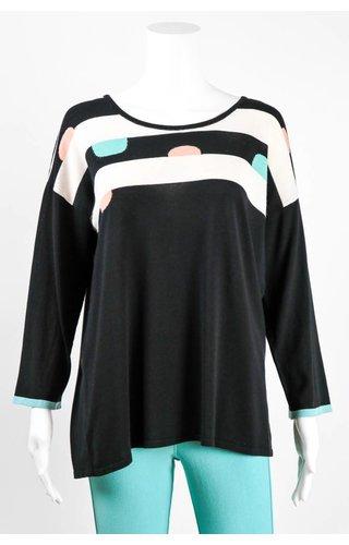 Angel Apparel Pink / Blue Dot Knit Sweater