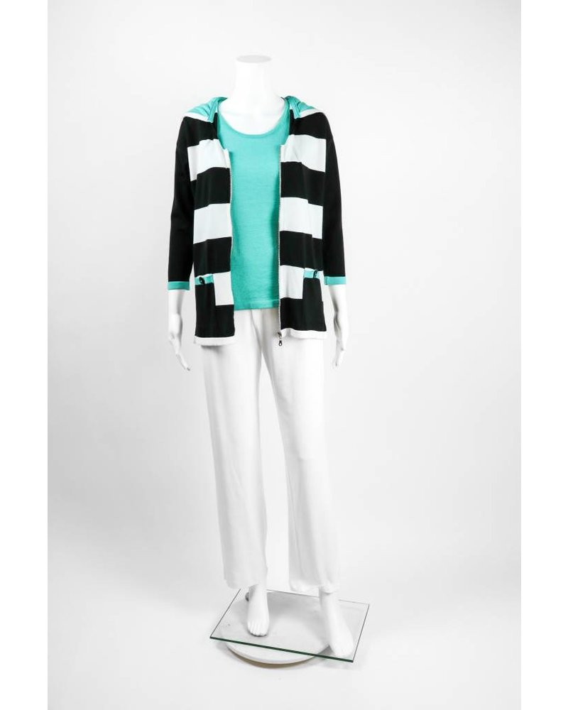 Angel Apparel Striped Hooded Cardigan