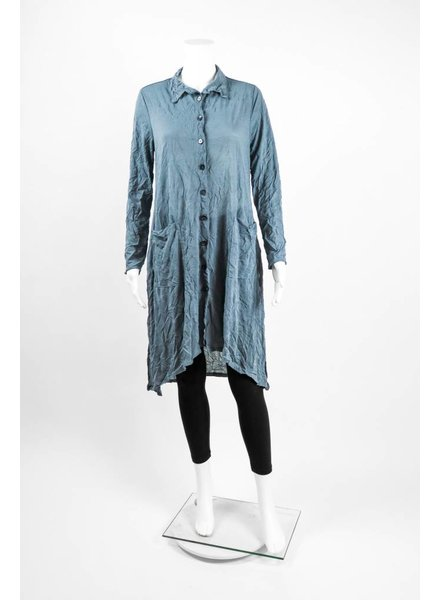 Chalet Crinkle Button Front Duster Coat