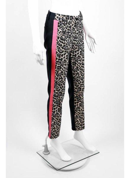 Cristina Gavioli Leopard Print Pink Stripe Pant