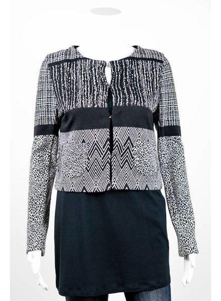 Cristina Gavioli Giacca Mixed Print Jacket