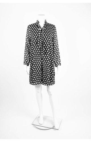 Cristina Gavioli Abito Dot Tie Neck Dress