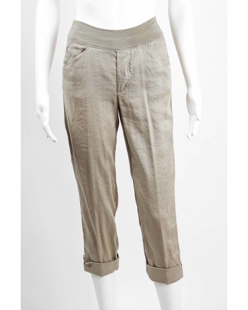 European Culture Cuffed Relaxed Elastic Waist Pant