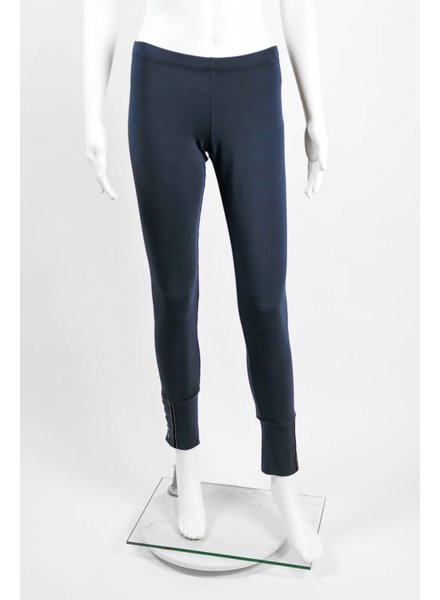 European Culture Button Cuff Legging