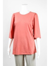 European Culture Cotton Knit Bell Sleeve Tee
