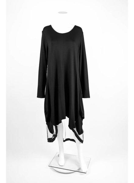 Luukaa Knitted Mesh HiLo Dress