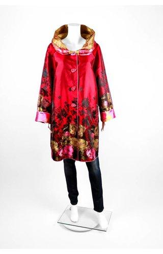 UBU Gold Poppies Reversible Coat