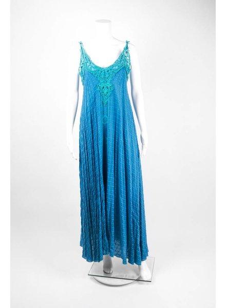 Johnny Was Sleeveless Crochet Top Long Dress