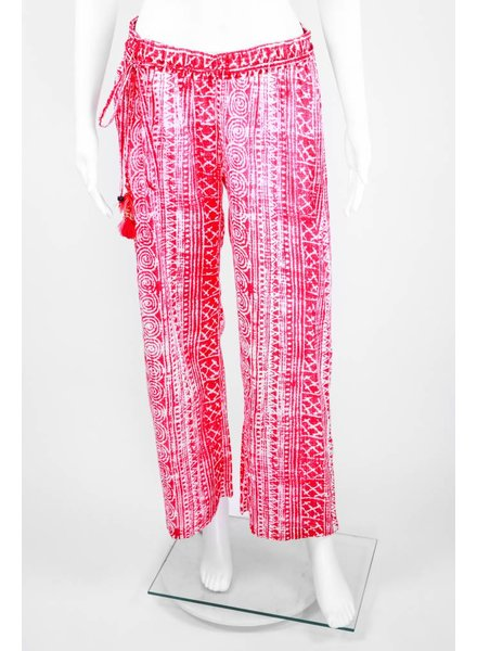Bella Tu Drawstring Pink Washed Pant