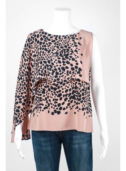 Tracy Reese Flowy Shell Spotted Top