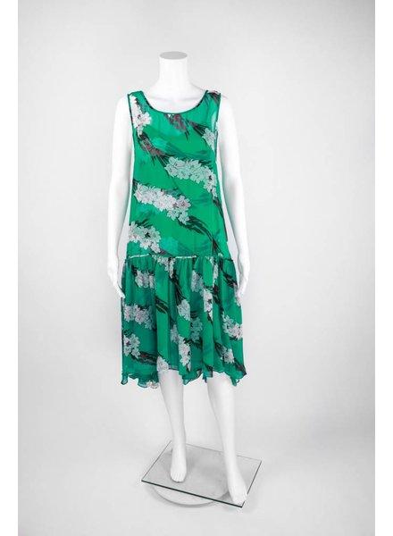 Tracy Reese Flounced Flyaway Dress