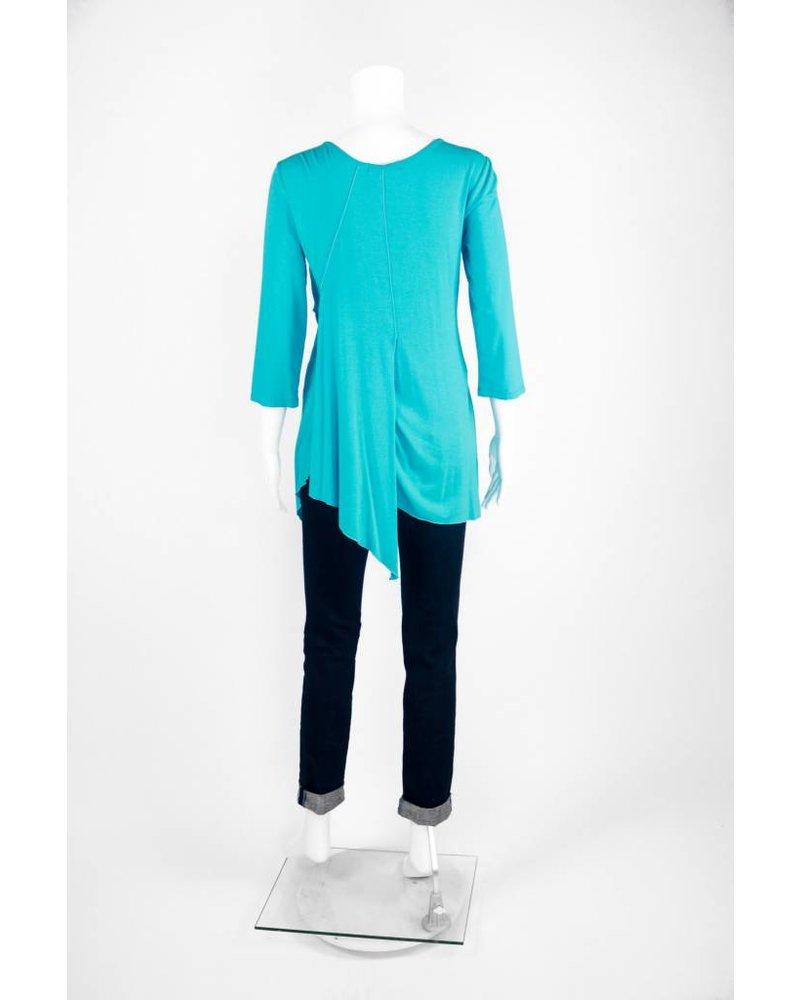 Zen-Knits 3/4 Sleeve Multi Layer Tunic